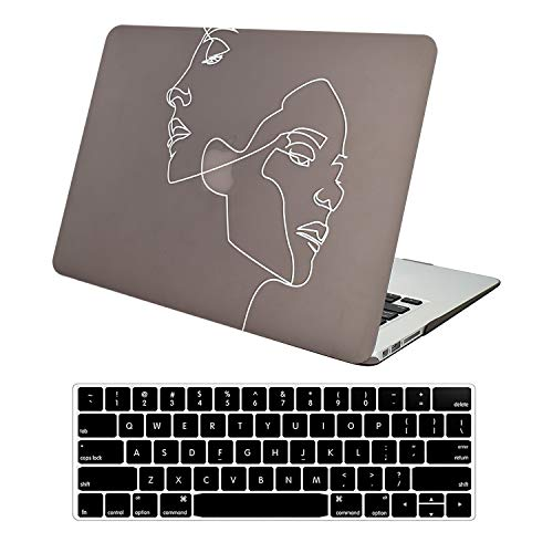 AUSMIX Case for 2020 MacBook Pro 13 Inch A2338 M1 A2251 A2289 A2159 A1989 A1706 A1708, Matte Ultra Thin Plastic Hard Shell Cover & Keyboard Cover for 2020-2016 Mac Pro 13 with/Without Touch Bar,Face
