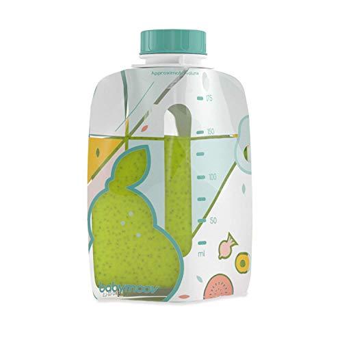 Babymoov 20 Gourdes Foodii Réutilisables sans BPA pour Bébé et Enfant