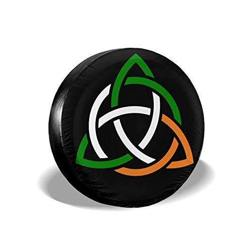 Hongkekeke Celtic Knot Irish Universal Spare Tire Covers Dustproof Wheel Covers for Trailer SUV Rv Car Truck Je-Ep and Many Vehicles