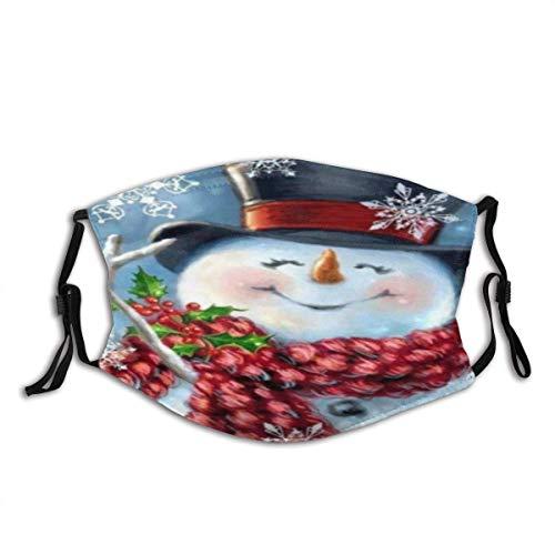 Cubierta Facial Sonrisa de Invierno Bufanda roja cálida Unisex Algodón Lavable y Reutilizable Decoración Facial cálida para Exteriores