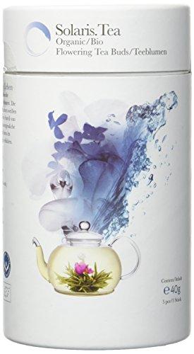 Solaris Tea Bio Teeblume Erblühender 5 Teerosen Flowering Tea, 1er Pack (1 x 40 g)
