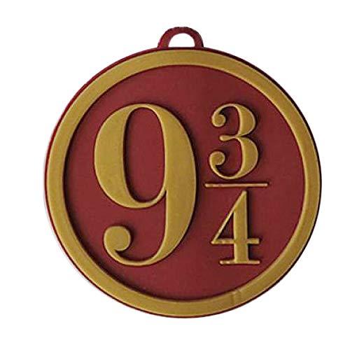 Harry Potter - Etiqueta de identificación para bolso modelo Nine And Three Quarters (Tamaño Único) (Rojo)