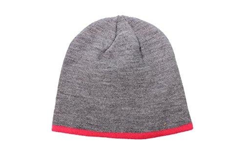 Tchibo TCM Mütze Wendemütze Wintermütze Strickmütze grau & pink