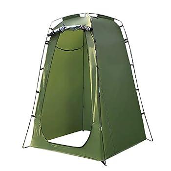 PAEFIU Portable Pop Up Tente De Confidentialité Camping - Tente De Plage Cabine De Douche Portable Armoire à Langer Camping Abri Extérieur pour Les Voyages De Randonnée en Plein Air (Vert)