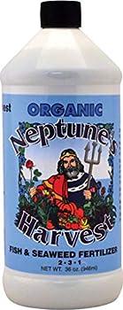 Neptune s Harvest FS136 32 Oz Fish & Seaweed Blend Fertilizer 2-3-1