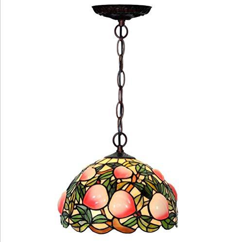 Bedlamp, kroonluchter, van kristalglas, wandlamp, wandlamp, 12 inch, motief visserij, riem, gekleurd glas, om op te hangen, hal, slaapkamer, woonkamer 220 V.