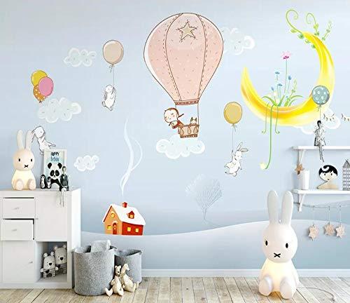 """AJ WALLPAPER 3D Mond Luftballons WC1452 Tapeten Drucken Abziehbild Deko Innen Wandgemälde Selbstklebend Tapete DE Kristen (gewebt Papier (Notwendigkeit Leim), 【123""""x87""""】 312x219cm(BxH))"""