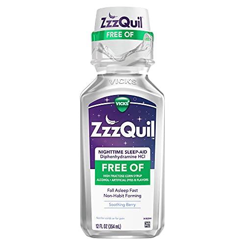 ZzzQuil, Nighttime Sleep Aid Liquid, 50 mg Diphenhydramine HCl, #1...