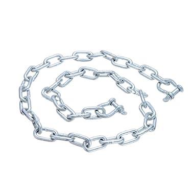 SEACHOICE/LAND&SEA INC. 44121 ANCHOR LEAD CHAIN 1/4  x 4' gallvanzed chain with two 5/16 galvanized shackles