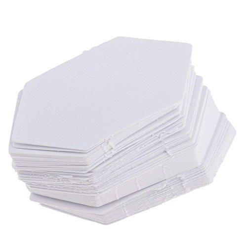 200 pezzi di carta di forma esagonale Quilting modello di carta per patchwork