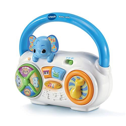 VTech- Baby Radio. Sonajero Activity Interactivo bebé +6 Meses, Color (3480-533322)