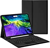 YIU Étui à clavier pour iPad Pro 10,5 pouces avec pavé tactile - Clavier Bluetooth fin - Étui en...