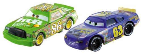Mattel BDW83 - Disney Cars Die-Cast 2er Pack Chick Hicks und Transberry Juice Nummer 63