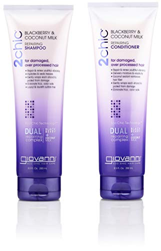 GIOVANNI COSMETICS - 2Chic Repairing Shampoo & Conditioner, 8.5 Fluid Ounce / 250 Milliliter - Dual Repairing Complex For Damaged Over-Processed Hair