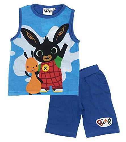 -Bing Completo T-Shirt con Pantaloncino Coniglietto Mis. 1 2 3 4 5 Anni Estate 2020 (5 Anni, Azzurro)