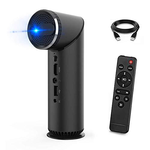 GPWDSN Mini proyector portátil, proyector de Video 1080P Full HD Proyector 100Lux Proyector de películas para Exteriores Compatible con Pantalla de 100', corrección de distorsión Trapezoidal, Alta