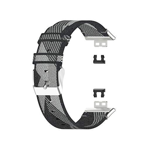 Mliu Correa de Reloj Compatible con Huawei Watch FIT, Correa de Repuesto de Lona para Reloj con Herramienta, cómoda y Transpirable, fácil de Instalar, para Hombres y Mujeres