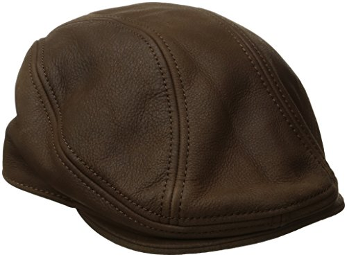 Stetson Men's Oily Timber Leather Ivy Cap, Brown, Large/X-Large