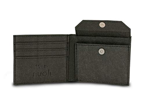 Nuoli® Slim Wallet Herren (mit Münzfach & RFID Schutz) innovatives Papier Portemonnaie, nachhaltiger Geldbeutel, vegan & waschbar