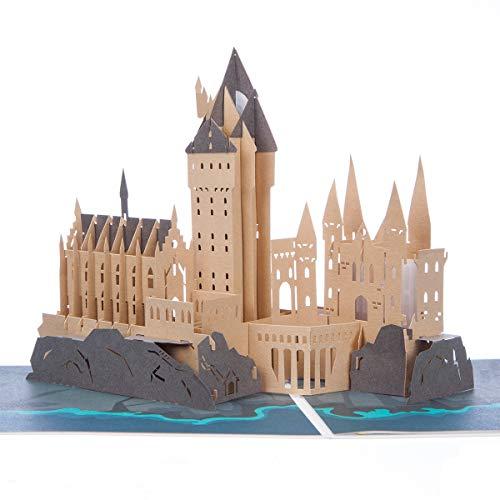 Cardology – Biglietto pop up, motivo castello di Hogwarts della saga Harry Potter, fatto a mano,...