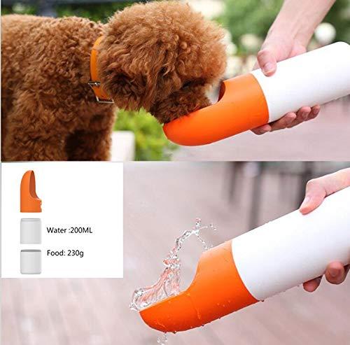 WJVCZ Tragbare Haustier Hund Wasserflasche für kleine große Hunde Travel Puppy Cat Trinkschale Outdoor Pet Wasserspender Feeder Futternapf