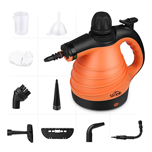 SIMBR Steam Cleaner Handheld with 9 Accessories Kit, Multipurpose Steam Cleaner for Home Use, 350ML Powerful Steam Cleaner Machine with Safety Lock and 360° Nozzle, Chemical-Free Steam Cleaning