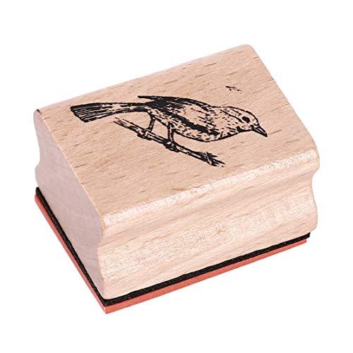 Kissrely Scrapbooking Briefmarken Wald Tier Pflanzen Holzstempel Gummidichtung Briefmarken DIY Scrapbooking Karten Dekor (Vogel)