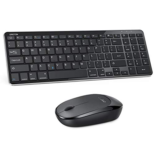 Bluetooth Keyboard and Mouse for iPad, OMOTON Wireless Keyboard and Mouse Combo for iPad 8th/7th Gen, iPad Pro 11/12.9, iPad Air 4/3, (iPadOS 13 and Above) and Other Bluetooth Enabled Devices (Black)