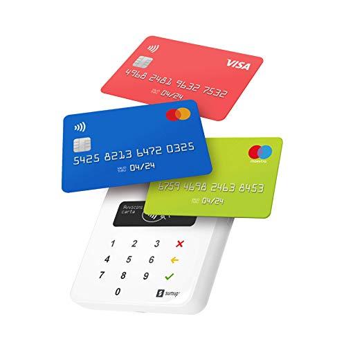 Lettore di carte SumUp Air per pagamenti con carta di debito, credito, Apple Pay, Google Pay. Dispositivo portatile...