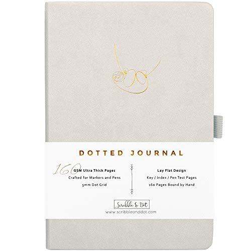 Bullet Planer / gepunktetes Tagebuch – A5, sehr dickes 160 g/m² Papier, Notizbuch von Hand gebunden – Perfekt gepunktetes Tagebuch für Künstler und Erschaffer– britische Marke