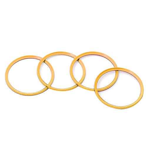 Anillos de Centrado de Coche, Asudaro Llanta de Rueda de Coche de Fabricado en CNC y Aleación de Aluminio Compatible con X1 X3 X5 1 3 5 6 7 Series