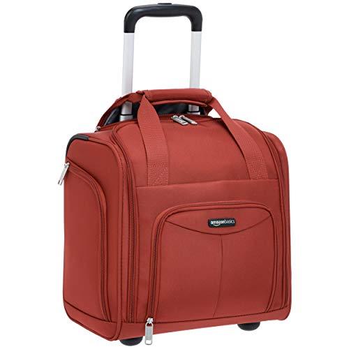 Amazon Basics – Maleta que cabe bajo el asiento de un avión, Rojo