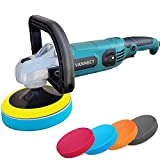 Buffer Polisher, 1200W 7-inch Dual Action Polisher with 6 Variable Speed, 4 Foam Pads, Detachable Handle and Safety Lock Car Buffer Polisher Ideal for Car Sanding, Polishing, Waxing (Upgraded)
