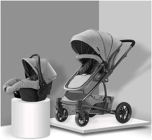 Cochecito portátil Portátil Cochecito de cochecito de cochecito de bebé para recién nacidos y niños pequeños-cochecito de bebé, cochecito de cochecito convertible 2 en 1, carro plegable de cochecito c