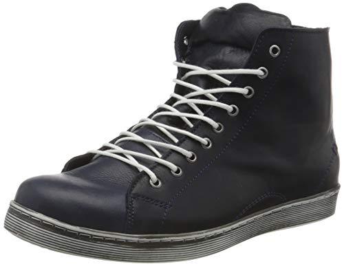 Andrea Conti Damen 0341500 Hohe Sneaker, Blau (Dunkelblau 017), 38 EU