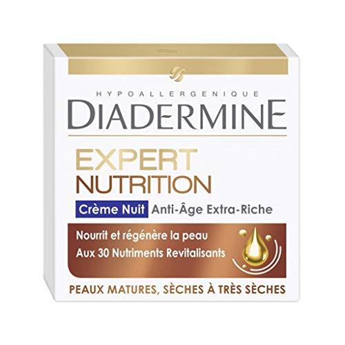 DIADERMINE Expert Nutrition Crème Nuit Anti-Âge Peaux Matures Sèches à Très Sèches 50ml (lot de 2)