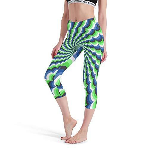 Chicici Fashion Leggings de efecto mágico 3D, ultra suaves, ligeros, ideales para hacer ejercicios, ideales para yoga, pantalones pequeños