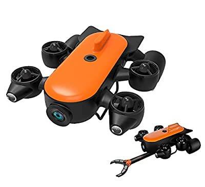 AHELT-J 150M / 100M Professional Underwater Drone Robot with 4K UHD Action Camera Remote Control Real-time Underwater Detection for Viewing, Shooting, Fishing and Salvage Work,150mac