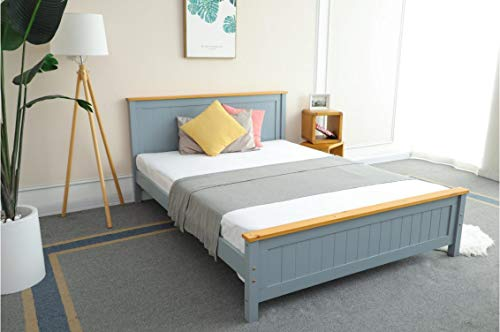 Kamco Wooden Bed Frame in Grey - Single 3ft, Double 4ft 6 or King Size 5ft (Single 3FT)