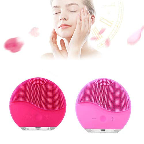 Cleansing Appliances & Brushesnew Ultrasonic Electric Facial Cleansing Brush Face Washing Usb Vibration Skin Blackhead Removal Pore Cleanser Silicone Massager,Light Pink