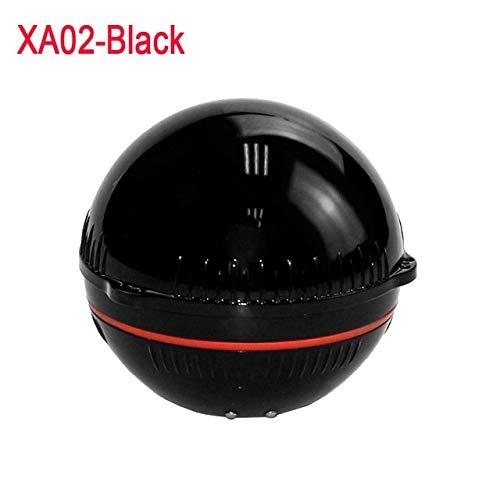 XIWAN Bluetooth Fischfinder 48m / 160ft Eisfischen Sonar Sounder Tragbare Englisch/Russisch Sprache Fischfinder sonda de Pesca (Color : Black)