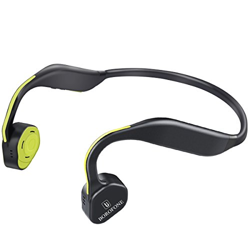 Bone Conduction Headphones, Borofone Titanium Wireless Open Ear Bluetooth Sports Headset - Grey