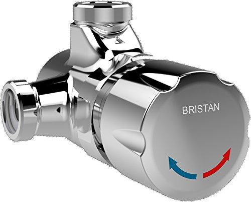 Bristan TFS 1 C - Válvula de ducha manual regulable con temperatura de flujo temporizado, cromado