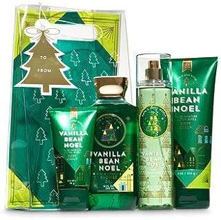 Bath & Body Works Vanilla Bean Noel Holiday Traditions Gift Set   Body Cream, Shower Gel, Fragrance Mist & Travel Body Cream