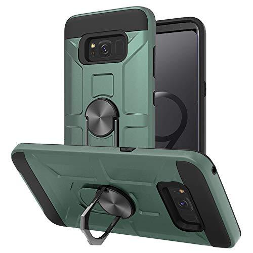 Cuoqing Cover Samsung S8, Galaxy S8 Custodia, 360°Regolabile Anello Magnetica Supporto Ring Armor Bumper TPU Case Silicone Custodie per Samsung Galaxy S8