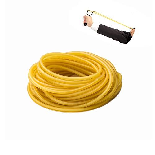 Yosoo 3m, 6x9mm Tubo de Látex Natural para Tirachinas, Tubería de Goma para Refacciones Elástico Catapulta Caza al Aire Libre, Ámbar (Amarillo)