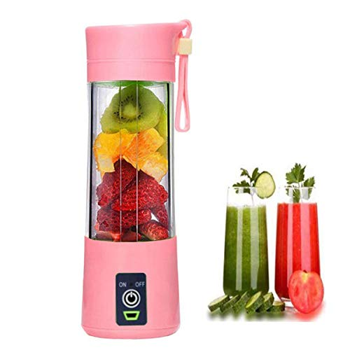 Portable Blender, Personal Size Eletric USB Juicer Cup, Fruit, Smoothie, Baby Food Mixing Machine, Magnetic Secure Switch Electric Fruit Mixer for Superb Mixing 400ml,2000mAh...