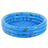 XIEJING Piscina Hinchable Bebé Niños Inflable Redondo Piscina de natación Océano Bola Piscina Play Natación Agua Infantil Fila Flotante (Color : Blue 80CM)
