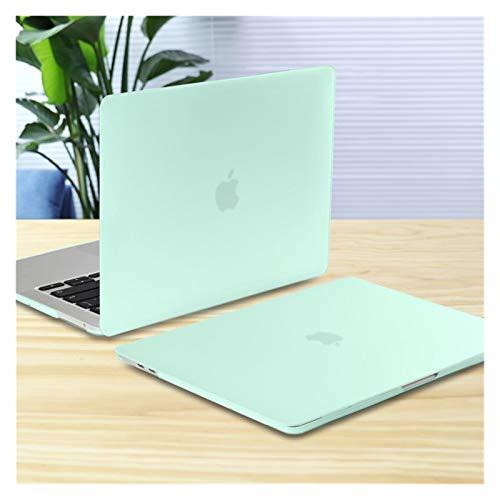 YNLRY Funda para MacBook Pro Air 11 12 13 15 16 pulgadas A2289 A2179 A2337 mate transparente cubierta de teclado y película de pantalla (color verde mate, tamaño: Old Air13 A1466)