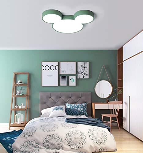 LED plafondlamp 27 W Ø 48 cm Garderie plafondlamp Modern Cartoon Micky Mouse Design jongens en meisjes kinderen kinderkamerlamp lamp lamp kinderlamp lampenkap van acryl
